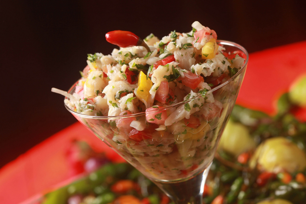 ceviche ceviche was ready to serve it with a pile of tropical ceviche ...