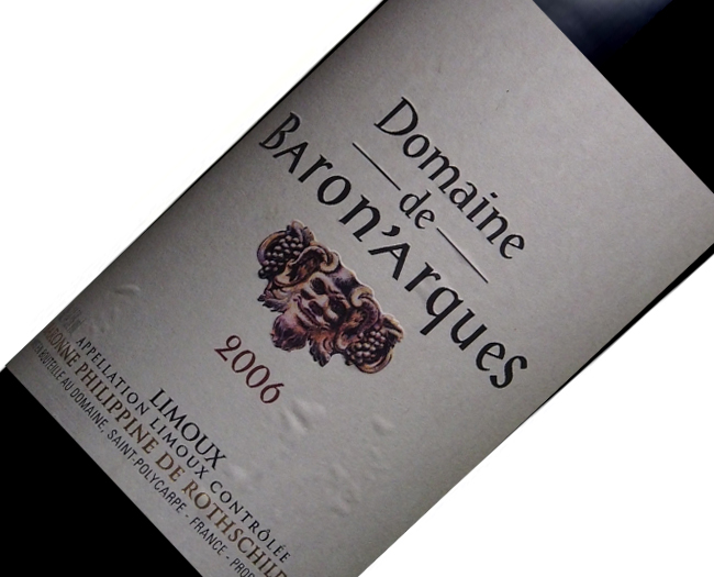 Vinho Baron Philippe de Rothschild Domaines Arques 2006