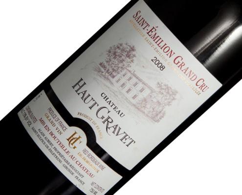 Vinho Château Haut Gravet A.O.C Saint Émilion 2008