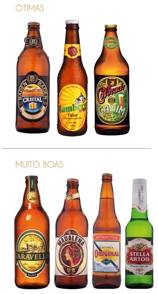 A melhor cerveja Pilsen do Brasil: Ótimas e muito boas