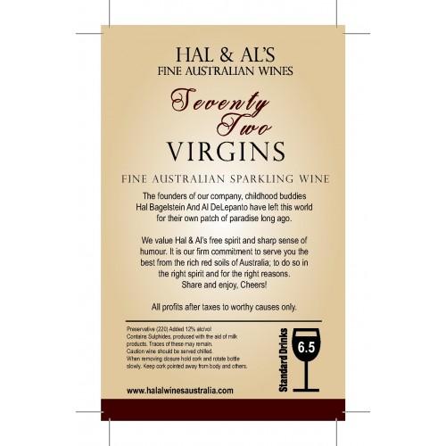 Espumante 72 Virgins Contra Rótulo
