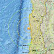 O mapa mostra o epicentro do terremoto