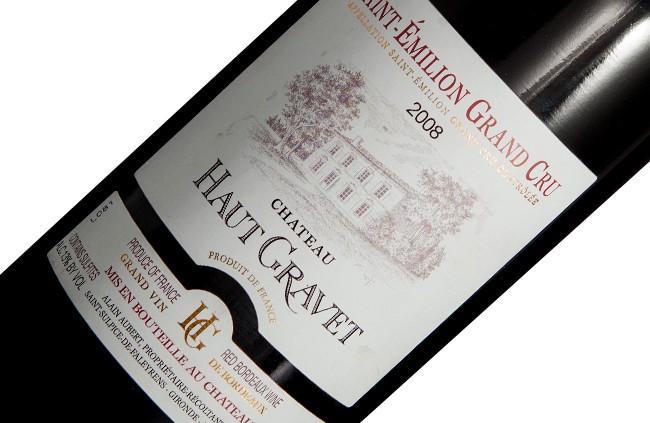 Vinho Château Haut Gravet A.O.C Saint Émilion, 2008
