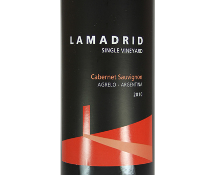 Lamadrid Cabernet Sauvignon Clásico Single Vineyard, 2010. ARGENTINA
