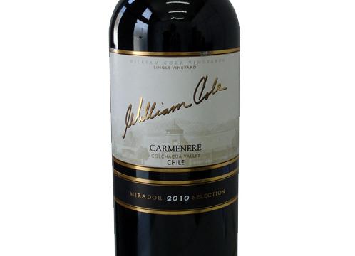 William Cole Mirador Selection Carménère, 2010