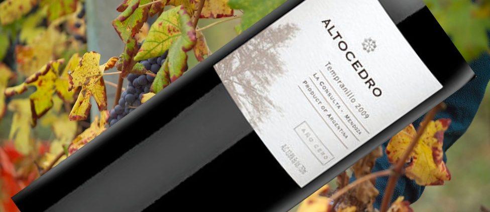 Vinho Altocedro Tempranillo Año Cero, 2010