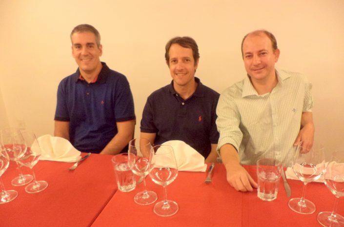 Eduardo Ferraz, Ricardo Vieira Machado e Ricardo Gottardi junior da Confraria Tanino