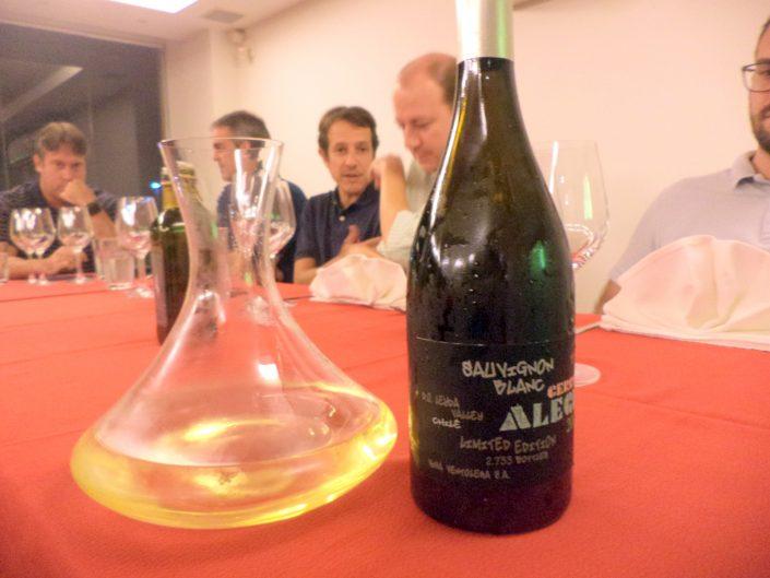 O vinho Ventolera Cerro Alegre Sauvignon Blanc, 2016 decantado
