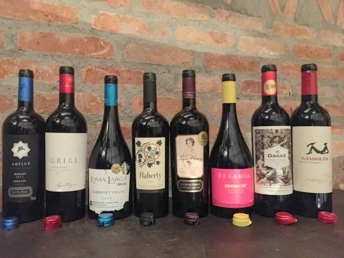 Vinhos degustados em São Paulo no Chilean Premium Wine – Tasting Tour